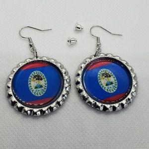 A beautiful pair of Belizean handmade earrings